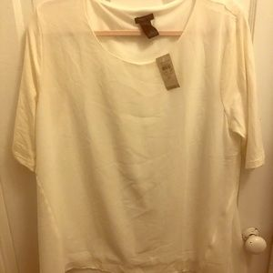 Ann Taylor off-white top, brand new size XL